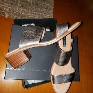Poke Metallic STEVEN Steve Madden Sandals Heels 11
